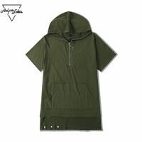Aelfric Eden 2XL Hi Street Personality T Shirt Men S Dark Hip Hop Loose Hooded T
