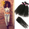 Rosa Hair Products Peruvian Kinky Curly Virgin Hair 4 Bundles Peruvian Afro Kinky Curly Hair Human Hair Weave With Closure