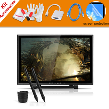 Big sale 2 Pens UGEE UG-1910B 19″ Inches LCD Monitor Graphic Drawing Tablet+VGA Adapter For MacBook+Screen Protector+USB Charging Cable