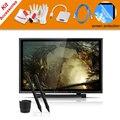 """2 Plumas UGEE UG-1910B 19 """"Pulgadas LCD Monitor de Gráficos del Dibujo de la Tableta + Adaptador del VGA Para MacBook + Protector de Pantalla + Cable de Carga USB"""