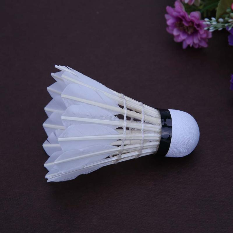12pcs/barrel Stability Feather Everlasting Badminton Shuttlecock Durable Sports Training Badminton Ball Single weight 4g
