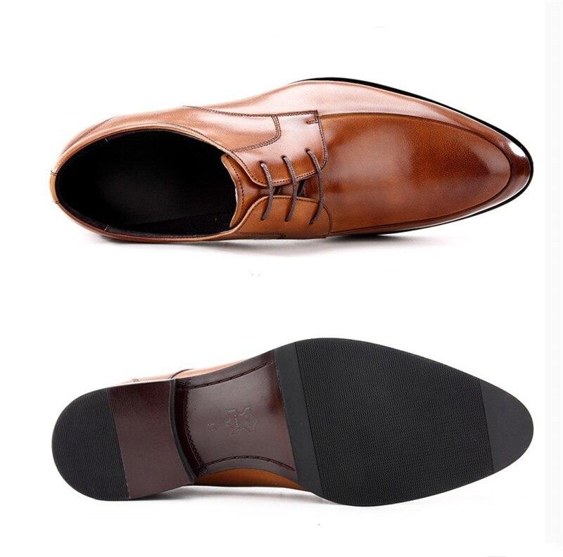 Mode schwarz braun formale soziale schuhe herren business kleid schuhe aus echtem leder mann hochzeit schuhe