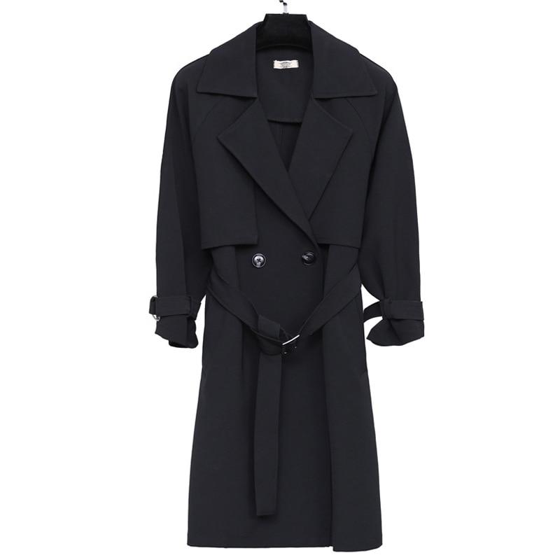 2019 New Fashion Spring Parker Fat Sister Plus Big Jacket Coat 4XL Black Women