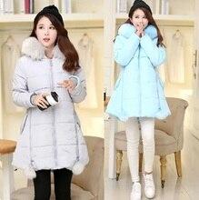 Новый 2016 Зима плюс размер одежды мода женщин мило с капюшоном пальто теплый ватник женщин асимметричный ватные верхней одежды XXXXXL
