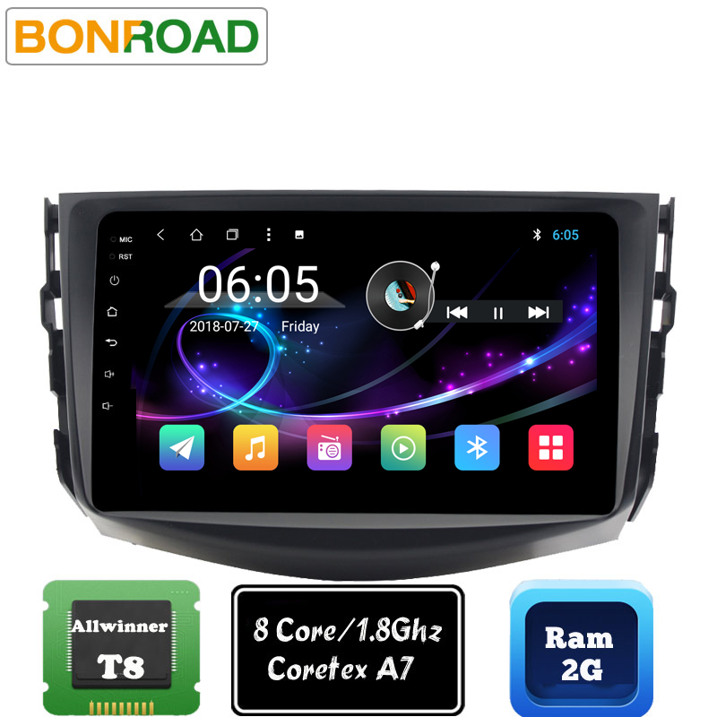 US $194 48 29% OFF| Bonroad 2 din Android 8 1 0 Car Multimedia Player For  toyota rav4 2006 2007 2009 2010 Car Radio Stereo GPS Navigation (No DVD  )-in