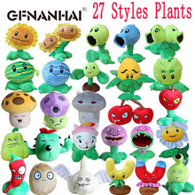 1pc 27 styles Plants vs Zombies Plush Toy Stuffed Soft Toys classical doll PVZ Plush Game Toy for Children Kids birthday Gifts