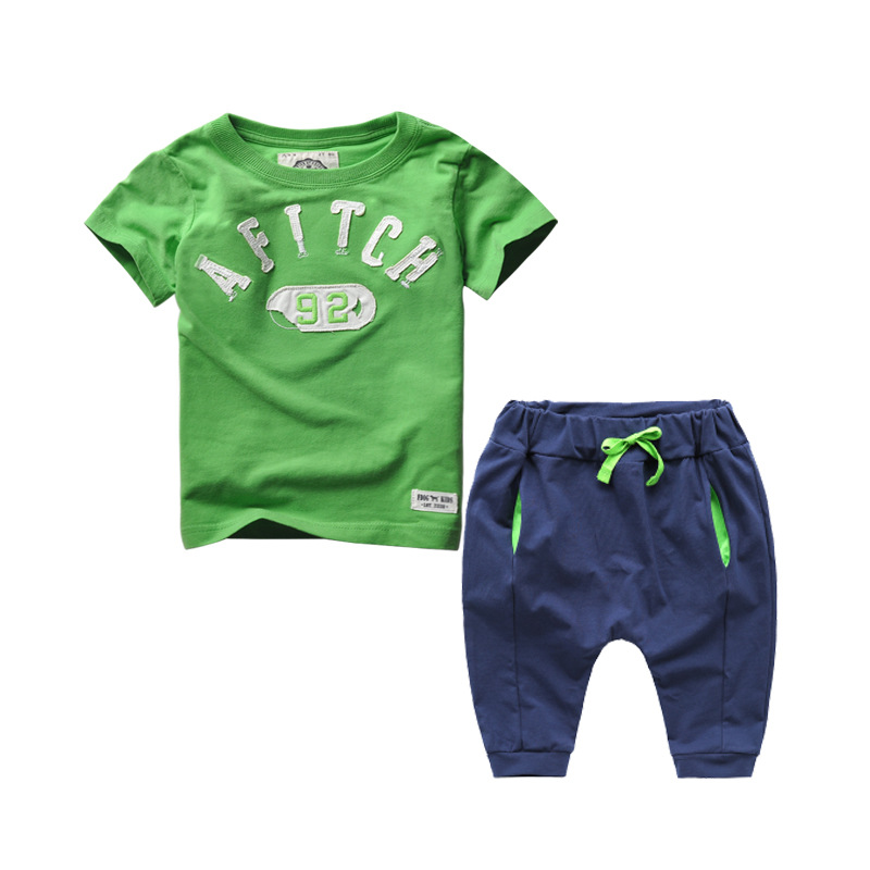 2017 New Kids Clothes Children Summer Clothing Sets Baby Boys Hip Hop Cotton Costumes Tracksuit vetement enfant garcon Roupa kids hip hop clothing autumn new boys kids suit children tracksuit boys long shirt pants sweatshirt casual clothes 2 color