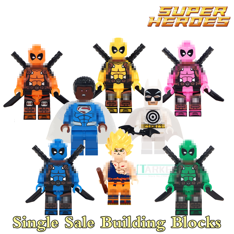 Building Blocks Val Zod Deadpool Bullseye Batman Son Goku Super Heroes Star Wars Set Bricks Dolls Kids DIY Toys Hobbies Figures building blocks the walking dead figures rick negan carl daryl star wars super heroes set assemble bricks kids diy toys hobbies