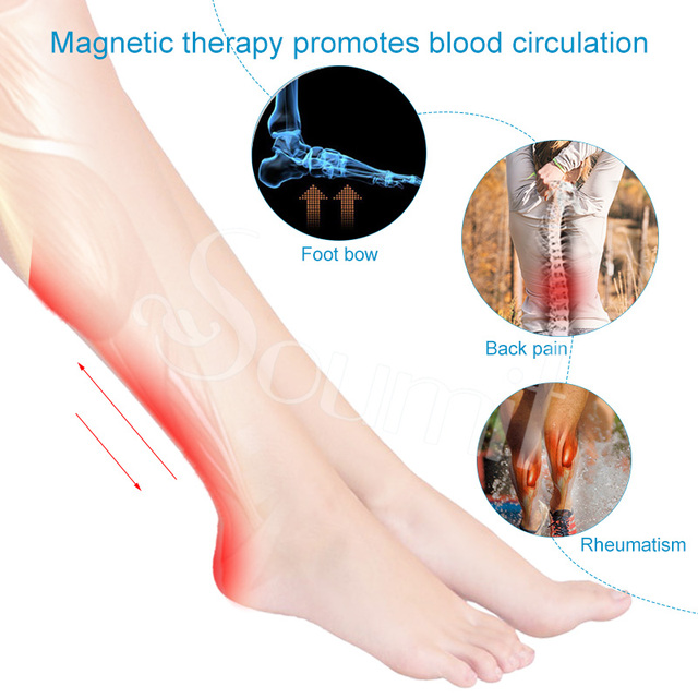 Soumit Magnetic Therapy Massage Insoles for Men Women Weight Loss Promote Blood Circulation Foot Magnet Health Care Shoe Pads 2