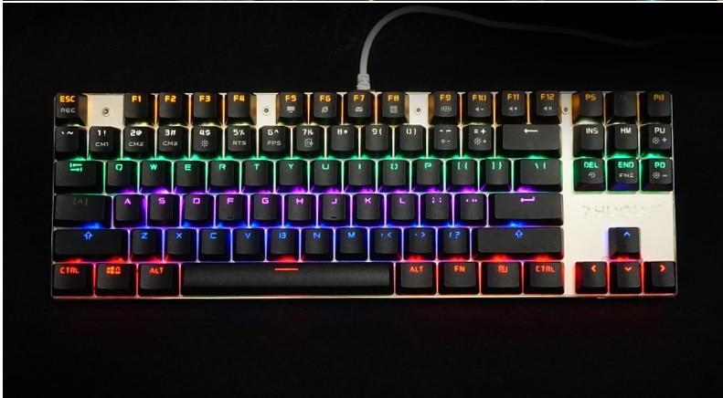 TEAMWOLF ZHUQUE Mechanical keyboard 87 keys Blue Red Brown switch Backlight Teclado Gaming keyboard for Desktop