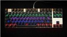 Teamwolf институт механическая клавиатура 87 Ключи синий и красный цвета коричневый переключатель Подсветка Teclado игровой клавиатуры для настольных ноутбука