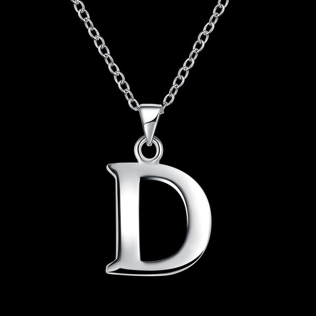 Awesome Fashion Necklace Letter D Creative Unique Simple Minimalism Unisex Women  Men Necklace New Trend Casual Party