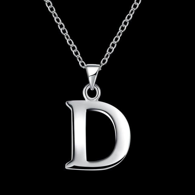 Fashion Necklace Letter D Creative Unique Simple Minimalism Unisex