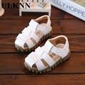 ULKNN Sandálias De Couro Crianças Sapatos de Verão Para Meninos Moda Ccut-outs Sandálias Crianças sandálias de Chuva Respirável Apartamentos Sapatos