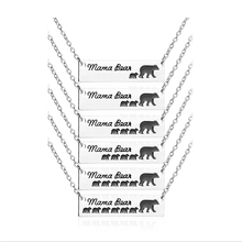 children birthday gift necklace 1 2 3 4 5 6 baby bear necklaces pendants mothers day dog tag enamel mama bear jewelry gift