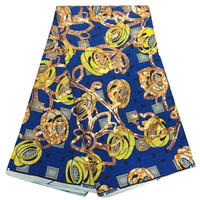 Good Quality Fashion Super London Wax Prints Fabric With Sequins African Waxed For Women Dress