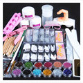 Acrylic Powder Glitter Nail Brush False Finger Pump Nail Art Tools Kit Set G6919