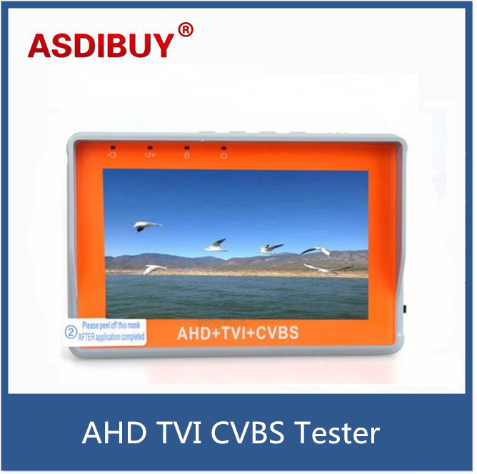 Protable CCTV Tester 3 In 1 AHD TVI & CVBS Analog Camera Security Monitor 1080P With 4.3-Inch LCD Screen 5V 2A,12V 1A