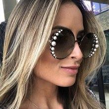 COOLSIR GIRL Luxury Round Sunglasses Women 2019 New Fashion Pearl Sun Glasses Female Gradient Eyewear Metal Frame UV400