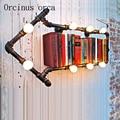Промышленный Ретро чердак личность стрела настенная лампа креативный Ресторан Бар американский стиль лопасть водопровод настенная лампа ...