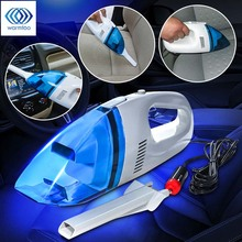 60W Mini 12V Car Auto Wet Dry Handheld Vacuum Cleaner Portable Lightweight High Power 2.4M Rechargeable Vacuum Cleaner