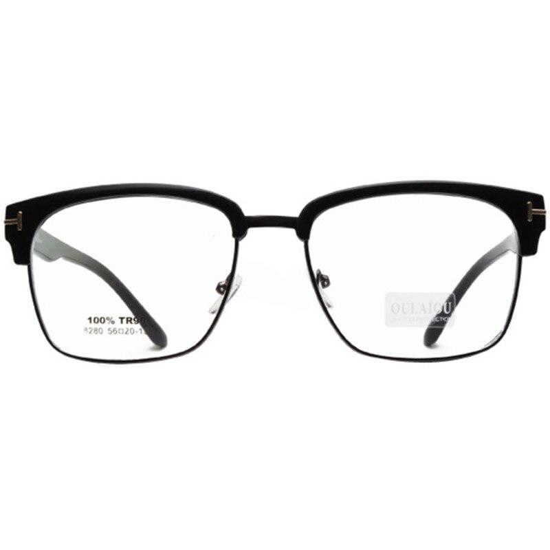 641f0fb52e Tr90 anteojos media llanta marcos para mujer hombre VINTAGE monturas para  miopía o de lectura con caja de envío gratis en De los hombres gafas de  Marcos de ...