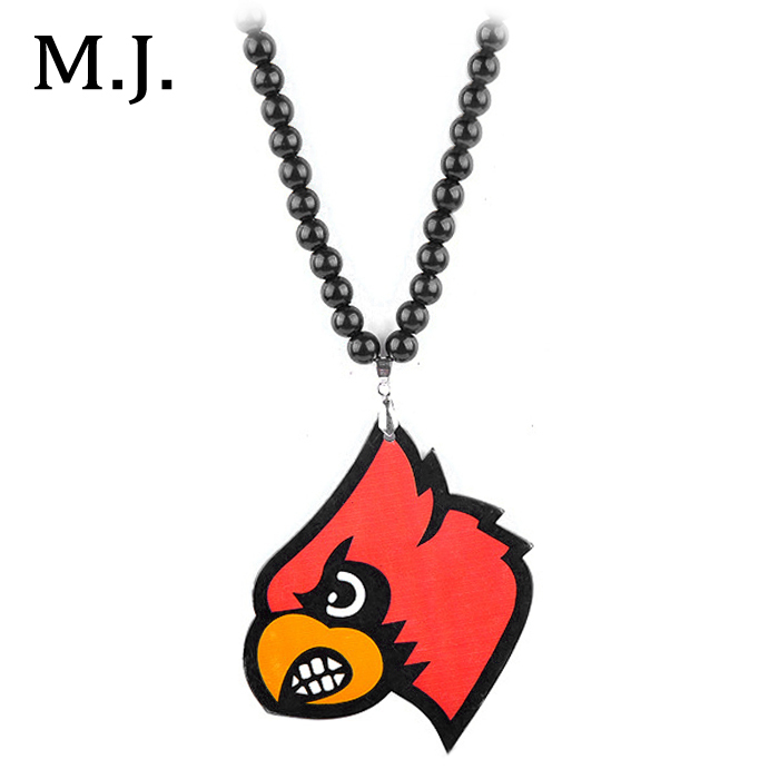 2pcs/lot Original New Hip Hop Anime Bird Maxi Necklace Men Long Beads Chain Hippie Necklace Male Collier Costume Jewelry Gift