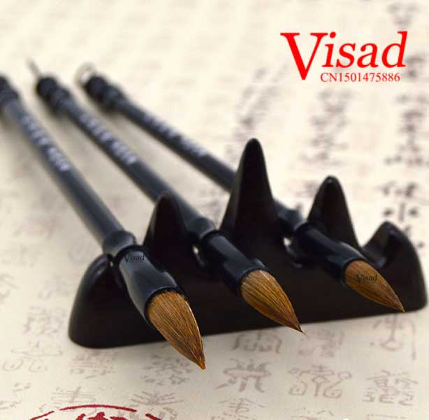 3pieces/pack brown Chinese Calligraphy Brushes Pen with Weasel Hair art supplies Writing Brush artist watercolor paint brushes chinese traditional calligraphy brushes pen woolen and weasel hair multiple hairs writing brushes artist drawing copybook suit