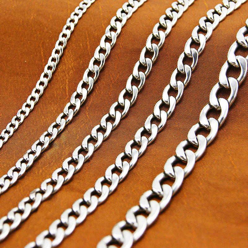 Nsiwem Collares de Cadena 12 Metro cadenas plata de Enlace DIY Collar de Cadena con 30 Cierres de Langosta 30 Enganches para colgantes y 100 Anillos de Salto