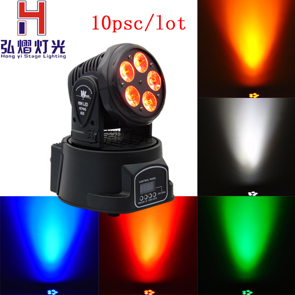 10pcs Led Moving Head Wash 5x18w Mini moving beam Light Stage Christmas Party Show Disco Dj Dmx lighting RGBWA Light free shipping disco stage club music dance 7x18w led mini moving head light rgbwa uv 6in1 bright lumiere dmx party dj lighting