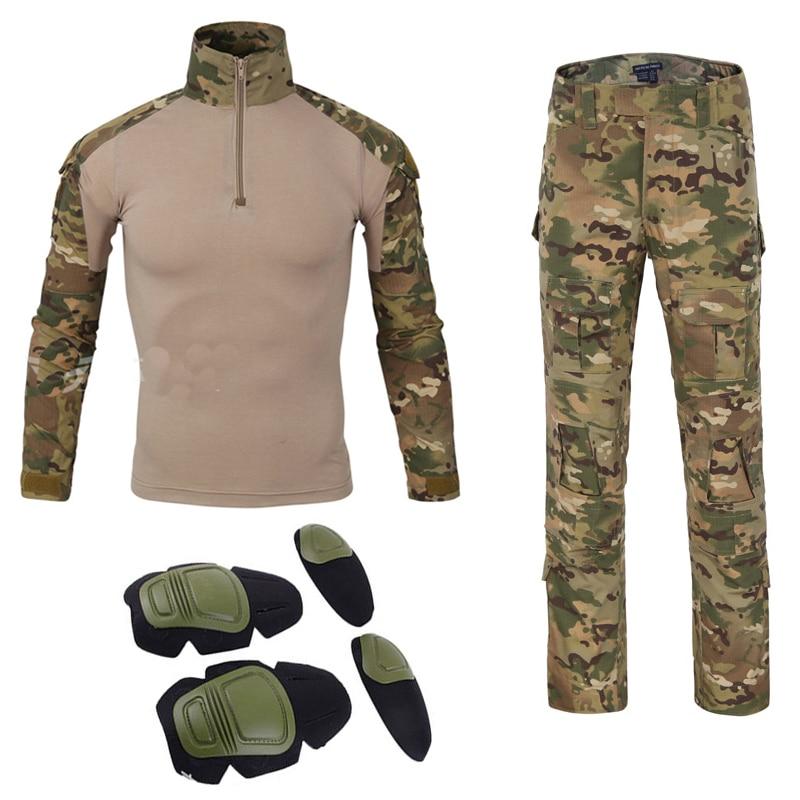 Americano Di Trasporto Libero Uniforme Militare Tatico Tacticalarmy Camicia Di Combattimento Multicam Militar Tactico Camisas Militare Degli Uomini Vestiti In Corto Rifornimento