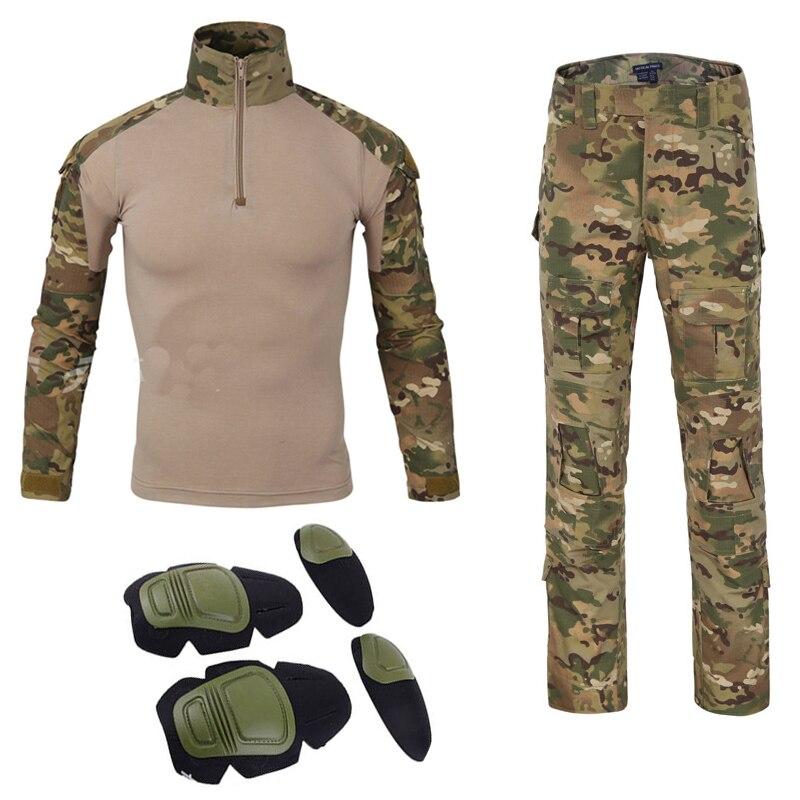 Livraison gratuite uniforme militaire américain tatico tacticalarmy chemise de combat multicam militar tactico camisas militaire hommes vêtements