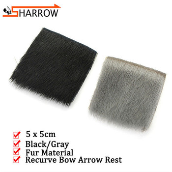 3/5pcs Bow Riser Arrow Rest 5x5 Fur Arrow Rest For Traditional/Recurve/Longbow Shooting Hunting Sports Archery Accessories traditional god rest you merry gentlemen
