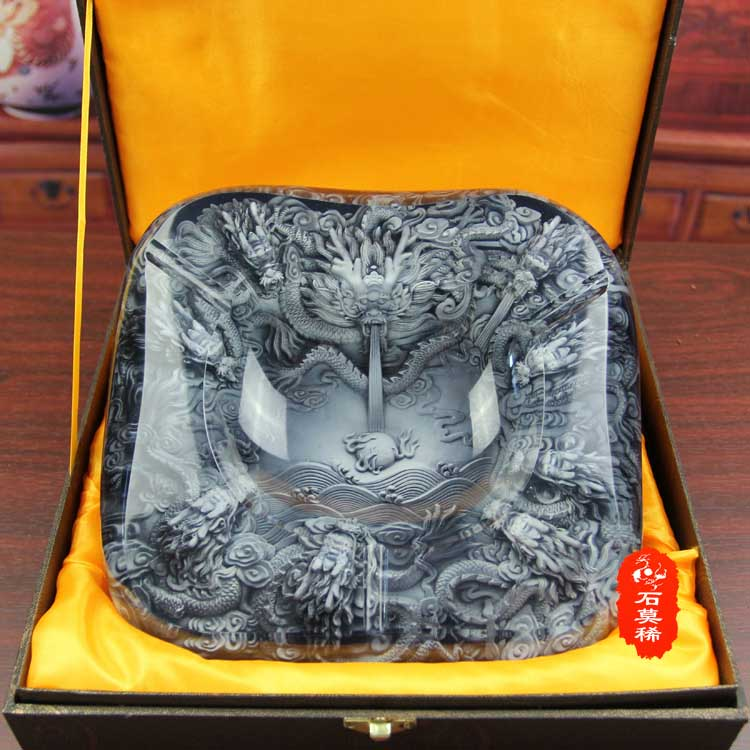 limited edition 2019 BAR TOP COOL unique 3D embossed dragon GOOD LUCK FENG SHUI crystal art