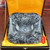 Limited Edition 2017 BAR TOP COOL Unique 3D Embossed Dragon GOOD LUCK FENG SHUI Crystal Art