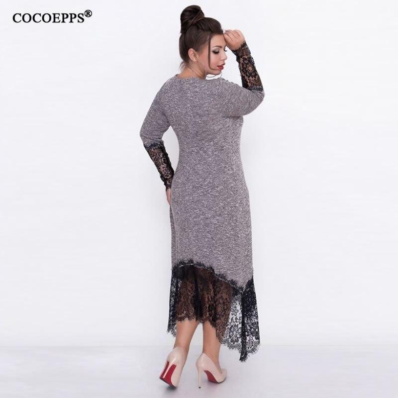 Braydendp4434 Comprar 5xl 6xl 2018 Otono Tallas Grandes Vestido Largo Casual Mujer De Encaje Bodycon Elegante Fiesta Oficina Vestidos Online Baratos