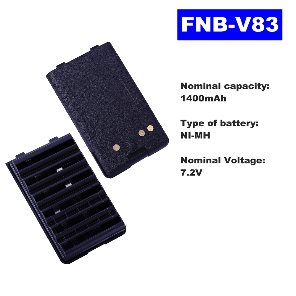 7.2V 1400mAh NI-MH Radio Battery FNB-V83 For Vertex Standard Walkie Talkie VX160/168/428/429 VX250 V417/410/420 Two Way Radio