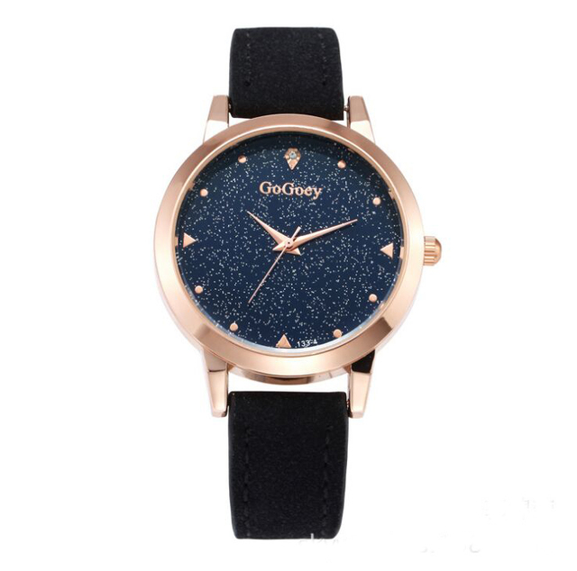 Hot Sales Gogoey brand Star Pu Leather Watch Women Ladies Crystal Dress Quartz W