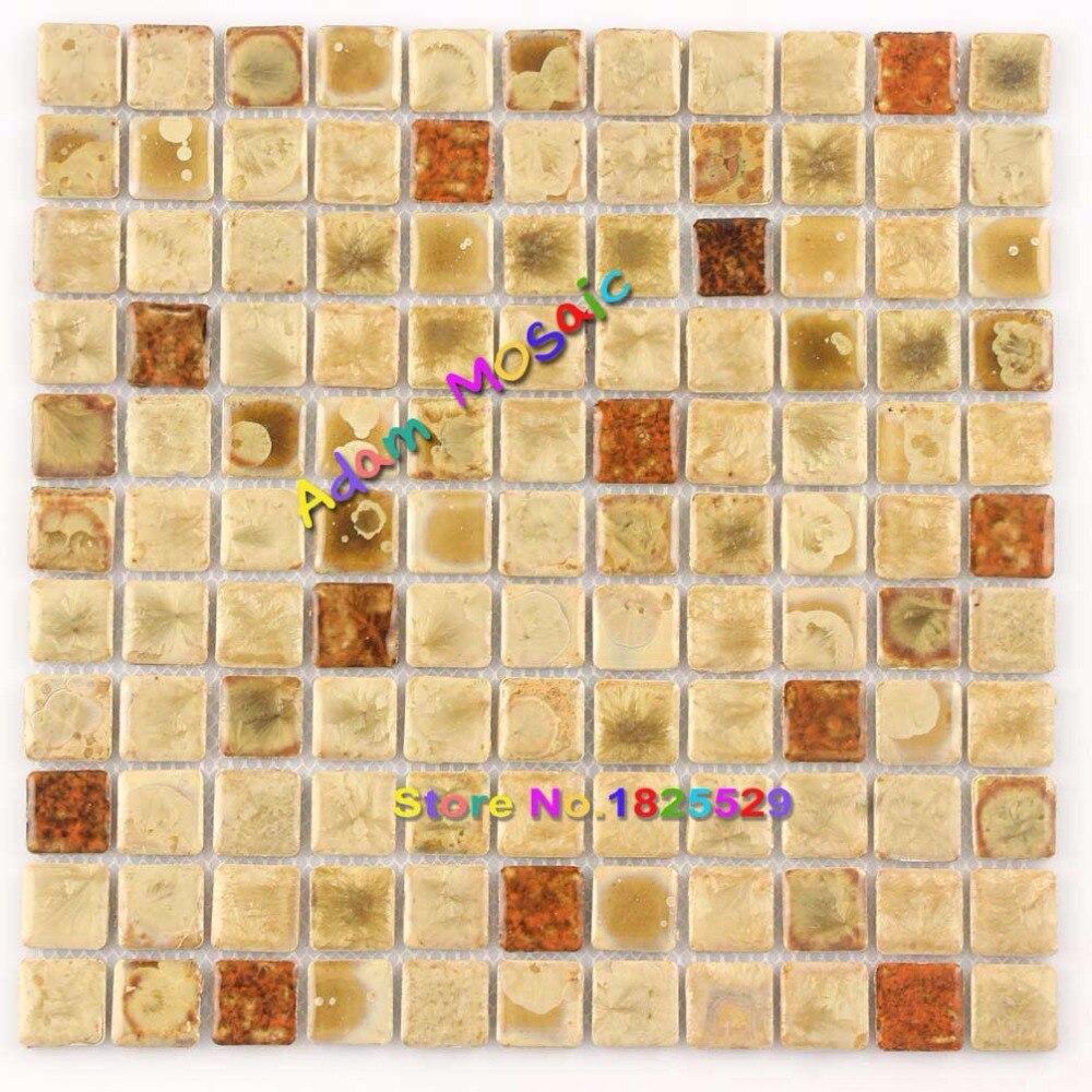 Subway Tiles Backsplash Fireplace Yellow Bathroom Tile Mosaic ...