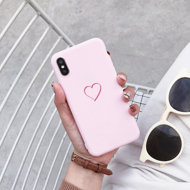 Cute Love Heart Cover For Samsung Galaxy Note 10 Pro 9 8 Case For Samsung S10 S10E S9 S8 Plus S7 S6 Edge Soft Silicone Cases