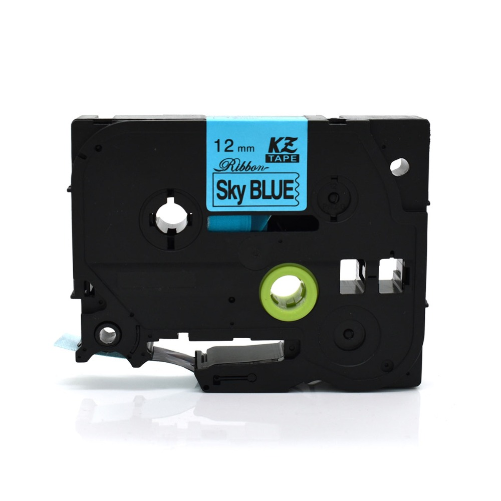 CIDY TZe-R531 For TZe Satin Ribbon Compatible Brother P Touch 12mm*4m Black On Skyblue TZ-R531 Tze R531 TZ R531 Label Tape