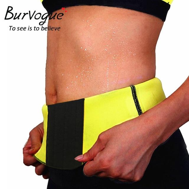 Burvogue Women Shaper Waist Trainer Sweat Sauna Neoprene Body Shaper Slimming Belt Modeling Strap Body Slim Shapewear Underwear 3