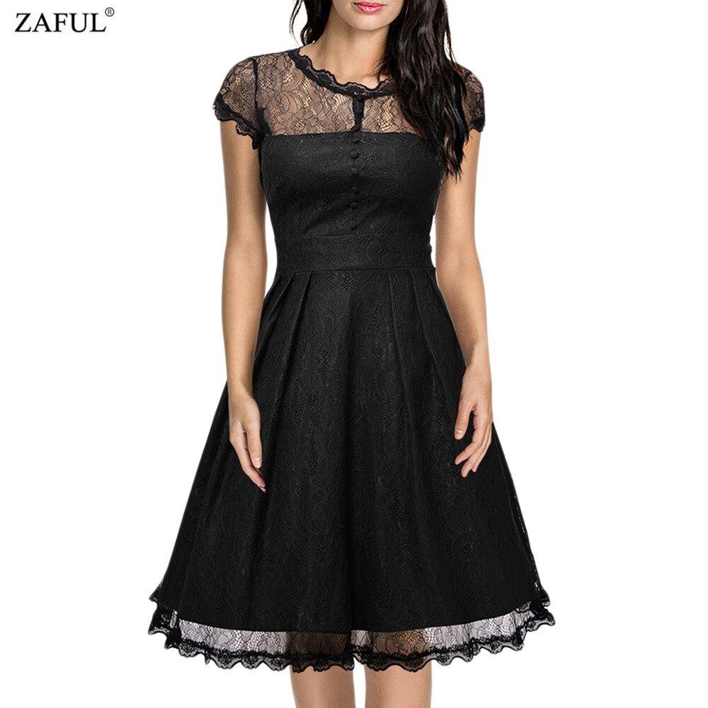 Online Get Cheap Vintage Black Lace Dress -Aliexpress.com ...