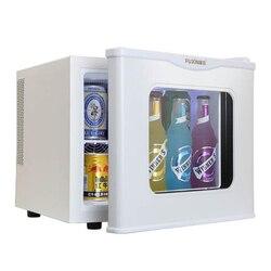 Porta de vidro temperado único frio & quente refrigerador Doméstico geladeira pequena amostra de aquecimento refrigeração gabinete 17L comestic