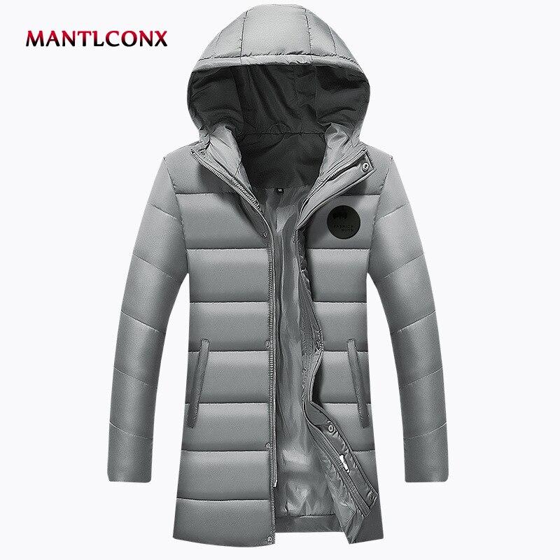Mantlconx 2019 New Arrival Winter Long Jacket Cotton Thick Men Quality Fashion Long Parkas Cotton Coat Men Clothing Brand Coat