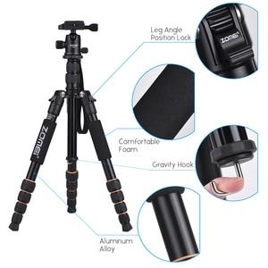 Image 2 - Cz在庫zomei Q100 Q111 Q555 Q666 Q666Cカメラ三脚旅行ポータブルカメラの三脚一眼レフカメラ三脚