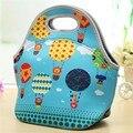 Thermo Duplas Neoprene Térmica Lunch Bag Mulheres Tote Crianças Sacos de Piquenique Bolsa Com Zíper Saco Térmico Isolamento Lancheira
