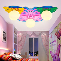 Детский потолочный светильник с бабочкой  декоративный светодиодный светильник для детского сада  Мультяшные светильники для мужчин и жен...