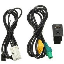 Nueva Aux Switch & USB Cable Cable Adaptador Para BMW 3 serie 5 E87 E90 E91 E92 X5 X6