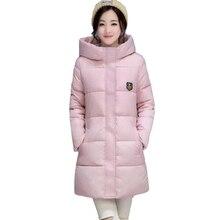 2018 Jaqueta de Inverno Para Baixo Mulheres Casaco Longo Espessamento  Feminino Casaco Plus Size Casaco Parka 6d516186b962